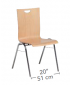 Atlanta 1 - Multi-Purpose, Straight Back Stacking Chair by HABA, 111075*