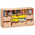 Forminant Room Partition with Shelves with 6 Wood Material Boxes by HABA, 508601*, 500060