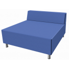 Relax Large Square Sofa with Seat Back, Synthetic Leather by HABA, 053607*