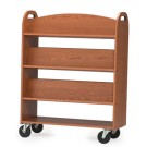MAR-LINE® Book Truck - Six Sloping Shelves with Handles, 3046*