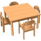 "HABA Table & Chair Set 31.5"" x 31.5"" x 18 1/4"" High, 167948"