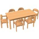 "HABA All Purpose Table & Chair Set, 47 1/4"" x 31 1/2"" x 23 1/4""H, Felt Glides, 167995"