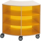 Move-Upp Quadrant Cabinet with Outer Acrylic Radius by HABA, 439865