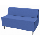 Relax Small Rectangular Sofa with Seat Back, Synthetic Leather by HABA, 053606*