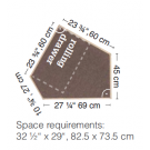 "HABA Grow.upp Linoleum Platform C without rolling drawer. 13"" H"