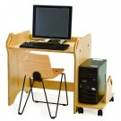 Children's Furniture Company® Single Station Height-Adjustable Computer Table, Y550*