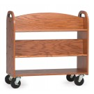MAR-LINE® Book Truck - Four Sloping Shelves with Handles, 3044