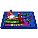 Check Us Out Rectangle Classroom Carpet, 30-CR-CHK*
