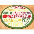 Fruit & Veggie Round Classroom Carpet, 30-CR-F&V*