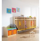"Toddlers and Kindergarten Hanging Wall Wardrobe with Seat, 32"", 4 Compartments, by HABA, 840410*"