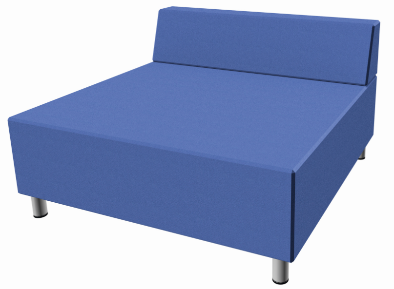 relax large square sofa with seat back synthetic leather by haba