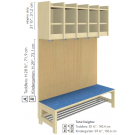 Assembled with Double Rack and Wardrobe Bench
