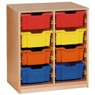 Forminant Material Cabinet with 4 sets of 8 Rails by HABA, 509100