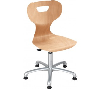 """solit:sit® Height-Adjustable Active Swivel Wood Chair by HABA, 16 1/2""""-21"""" H, 178174*"""