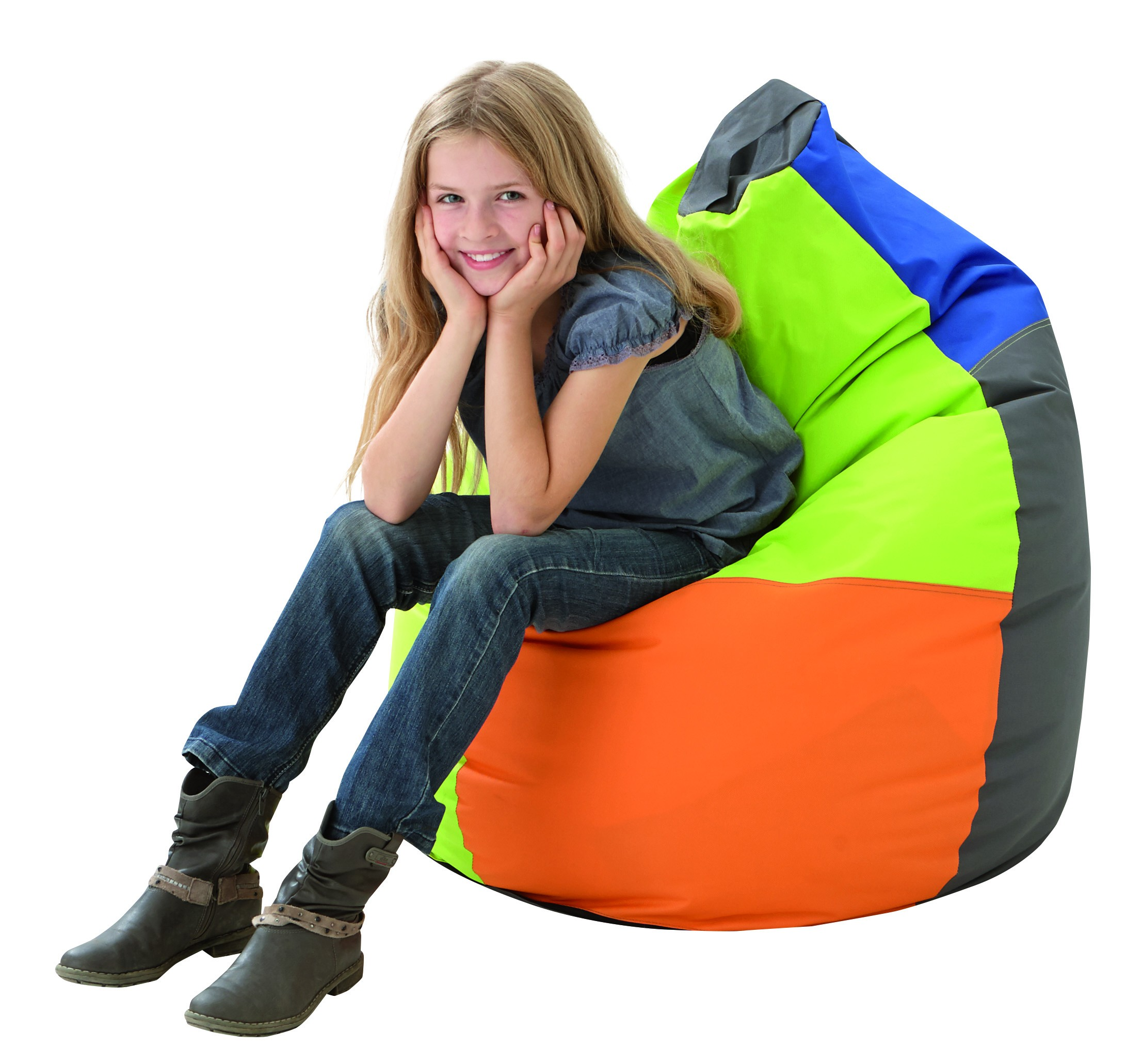 Multi Color Bean Bag With Handle By Haba 022923 Library