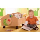 Small Birch Book Chest with 4 casters by HABA, 120952