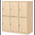 "Book Bag Cupboard, 48 1/2"", 6 Lockable Doors, by HABA, 840321*"