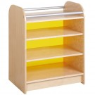 Children's Room Partitions by HABA, Narrow Cabinet with Yellow Acrylic, 870923