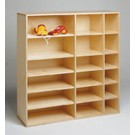 Move-Upp Shelving Unit with full back and 12 adjustable shelves by HABA, 438005