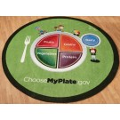MyPlate Round Classroom Carpet, 30-CR-MYP*