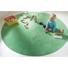 "Soft Meadow Green Carpet by HABA, 78 3/4"" Diameter, 052088"