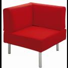"""Rebello"" Angular Corner, Synthetic Leather Sofa by HABA, 158422*"