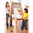 Double Sided Adjustable Natural Easel by HABA, 127635