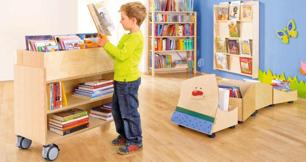 Willy Bookwork and Cart by HABA Children's commercial furnishings
